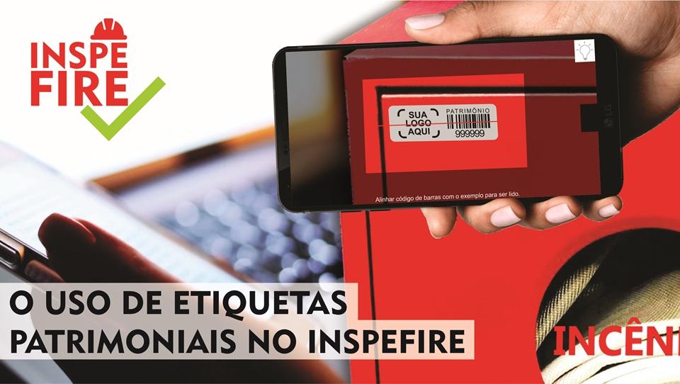 App Inspefire fazendo a leitura da etiqueta de patrimônio com código de barras do hidrante para fazer a inspeção.