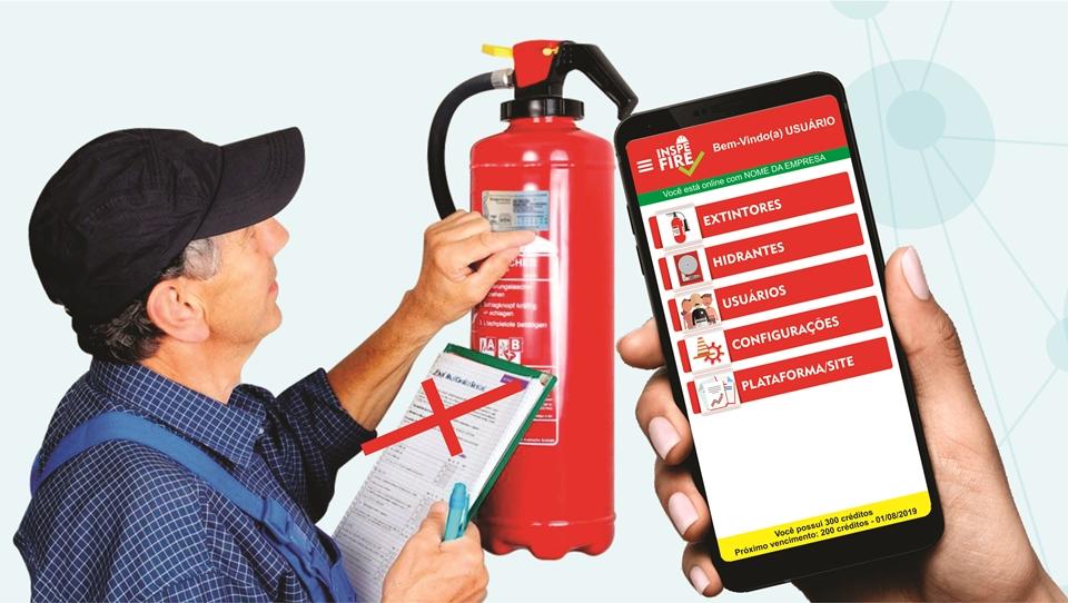 A importância da inspeção periódica de extintores.