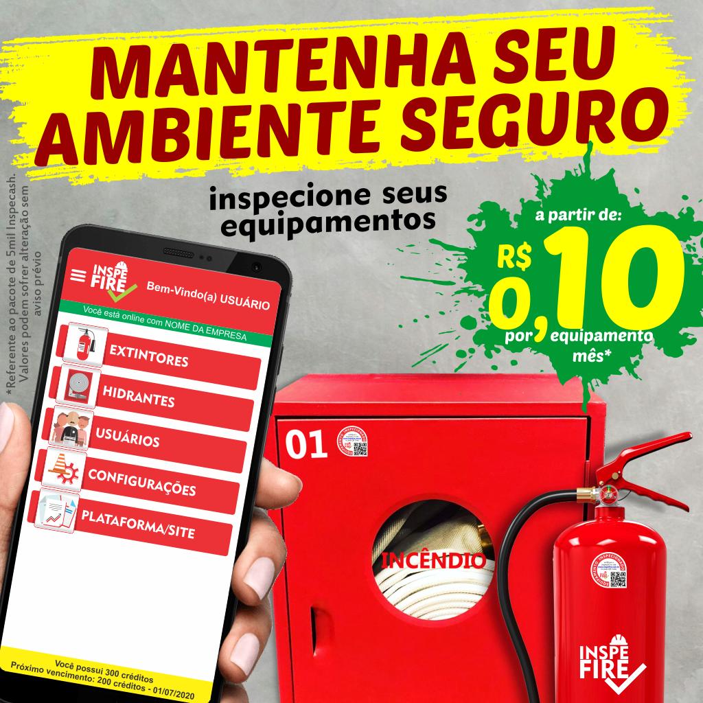 Mantenha seu ambiente seguro, inspecione seus equipamentos a partir de R$ 0,10 por equipamento mês.